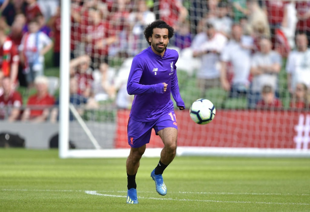 Will Salah walk away with the Golden Boot again? (Photo by Charles McQuillan/Getty Images)