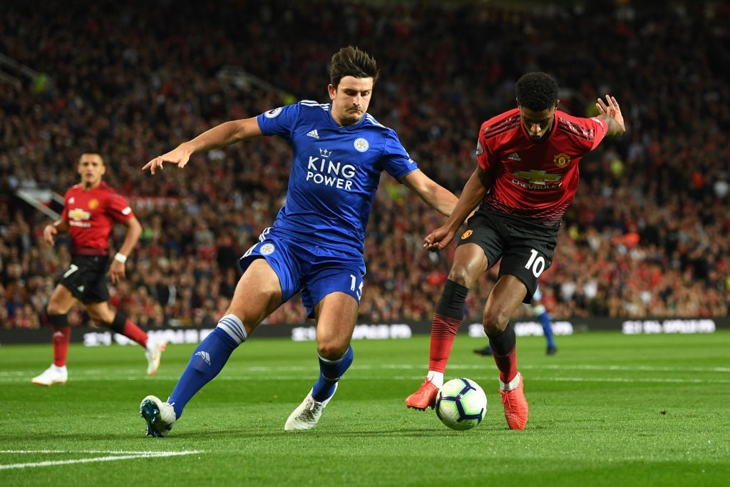 Maguire starred against Manchester United in the Premier League season opener. (Photo courtesy - Michael Regan/Getty Images)