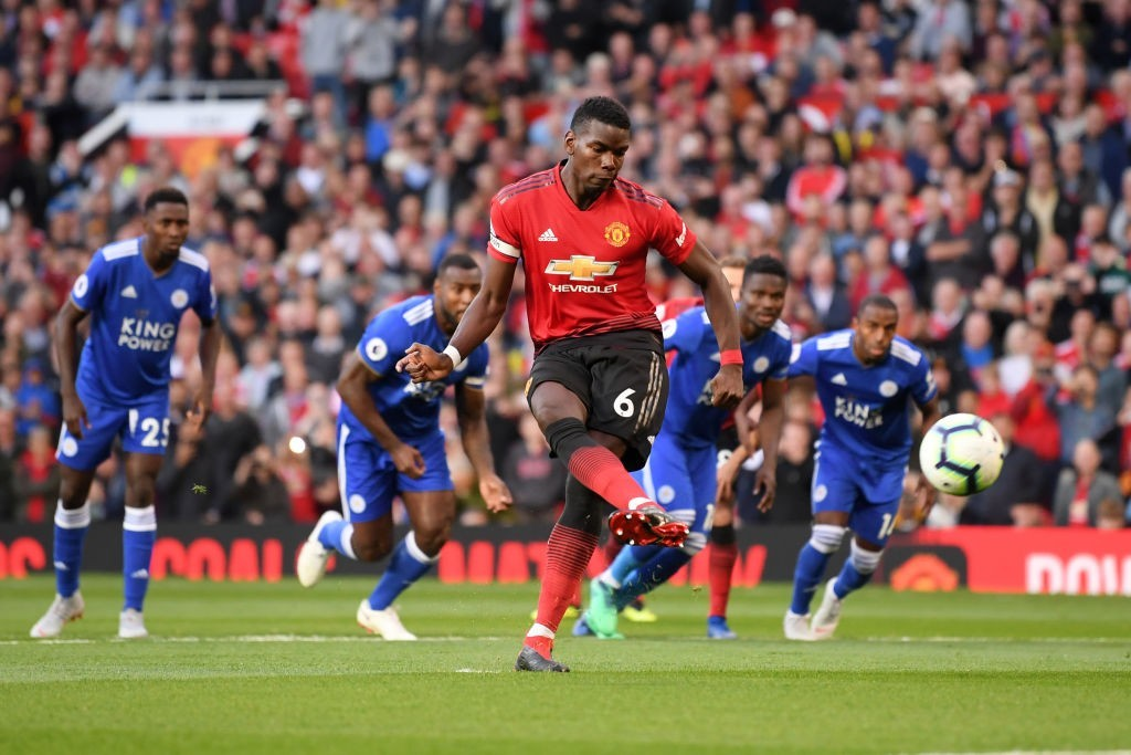 Captain Pogba leading from the front (Photo by Laurence Griffiths/Getty Images)