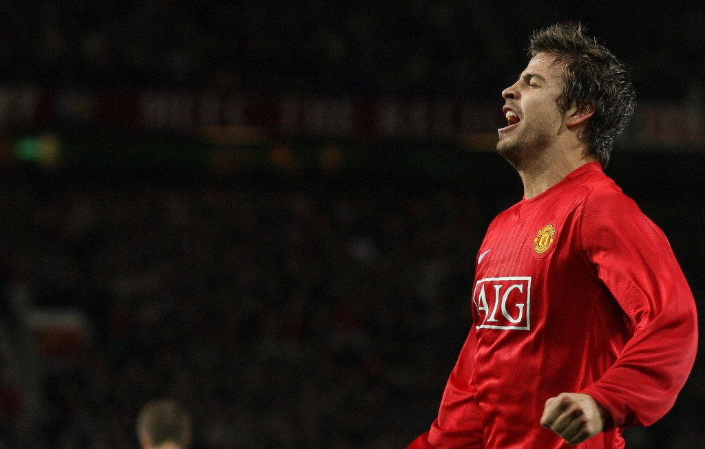 Pique spent four years at Manchester United (Photo by ANDREW YATES/AFP/Getty Images)