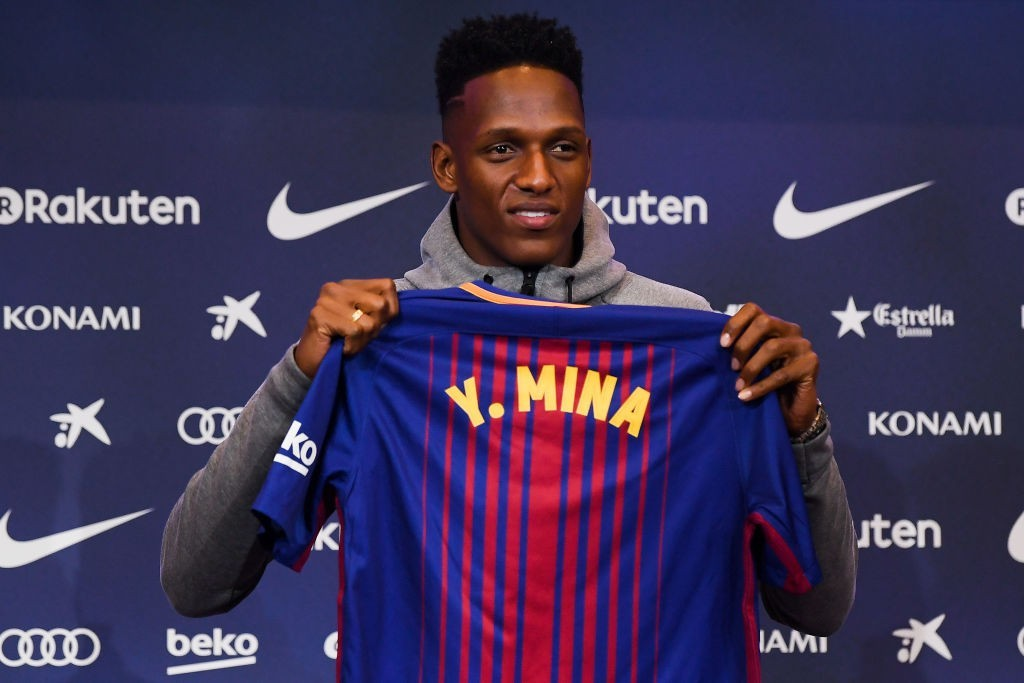 The Barcelona adventure didn't last long for Yerry Mina. (Photo courtesy - David Ramos/Getty Images)