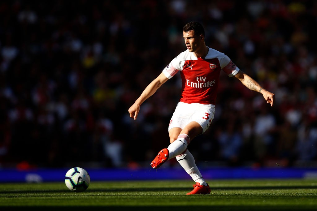 Granit Xhaka had an influential game in Arsenal's midfield making 99 passes. (Photo courtesy: AFP/Getty)