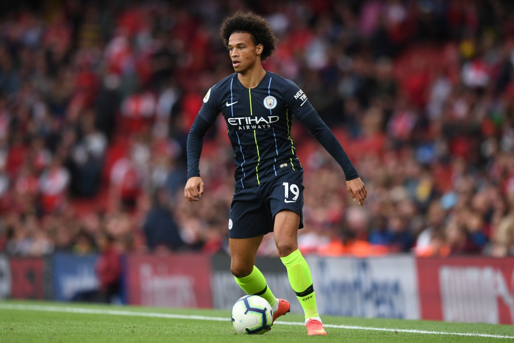 Leroy Sane has impressed Guardiola meaning he could start against Cardiff City. (Photo courtesy: AFP/Getty)