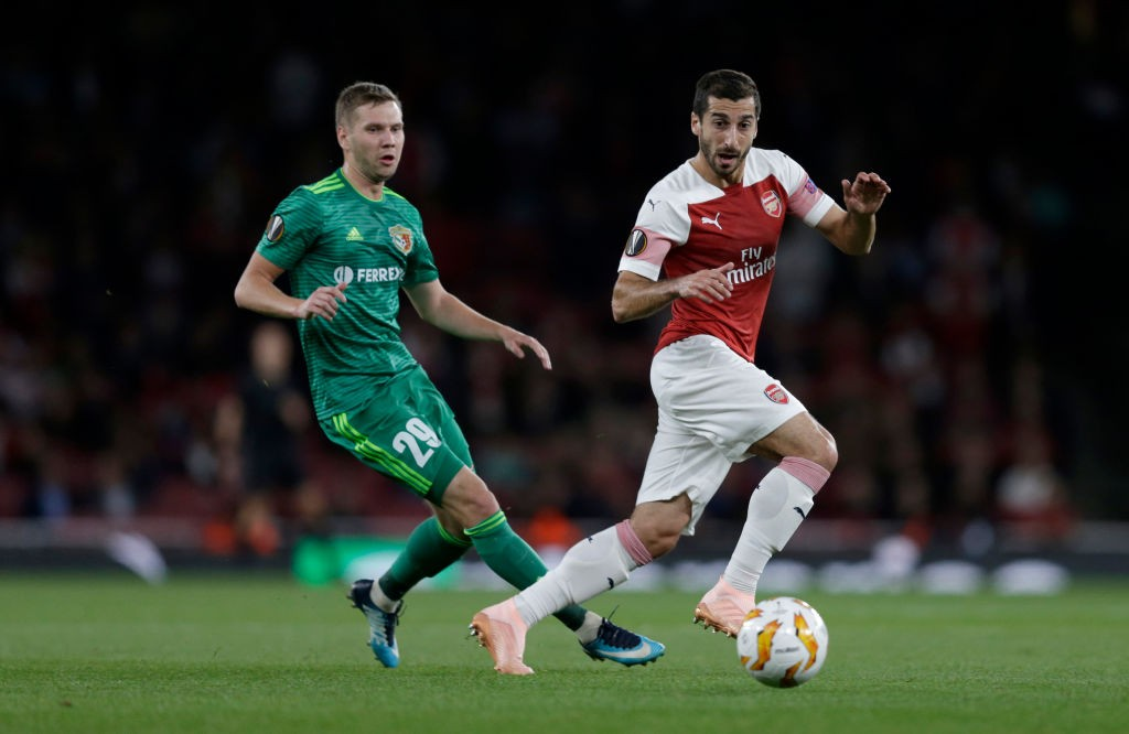 Mkhitaryan was the silent star for Arsenal with two assists during the game. (Photo courtesy: AFP/Getty)