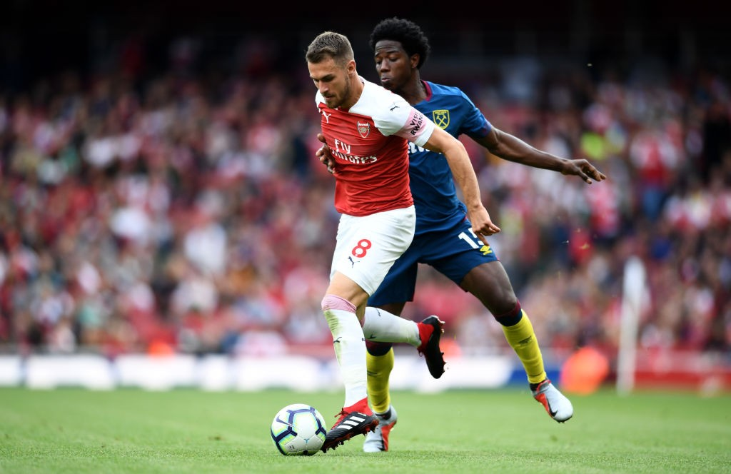 Arsenal and Aaron Ramsey are yet to agree on a contract extension. (Photo courtesy: AFP/Getty)