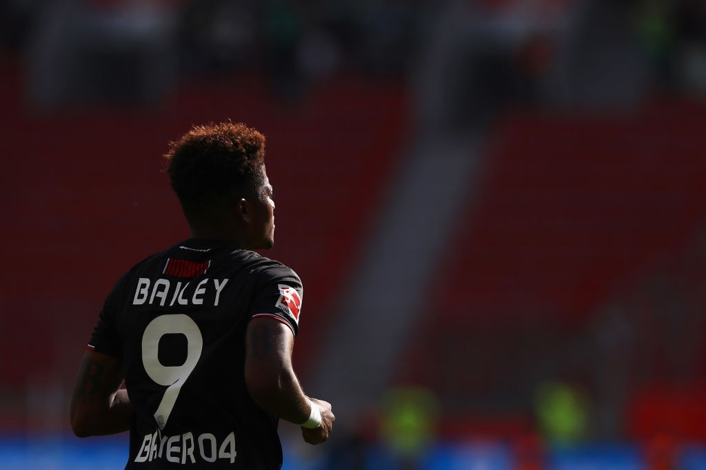 LEVERKUSEN, GERMANY - SEPTEMBER 01: Leon Bailey of Bayer 04 Leverkusen in action during the Bundesliga match between Bayer 04 Leverkusen and VfL Wolfsburg at BayArena on September 1, 2018 in Leverkusen, Germany. (Photo by Dean Mouhtaropoulos/Bongarts/Getty Images)