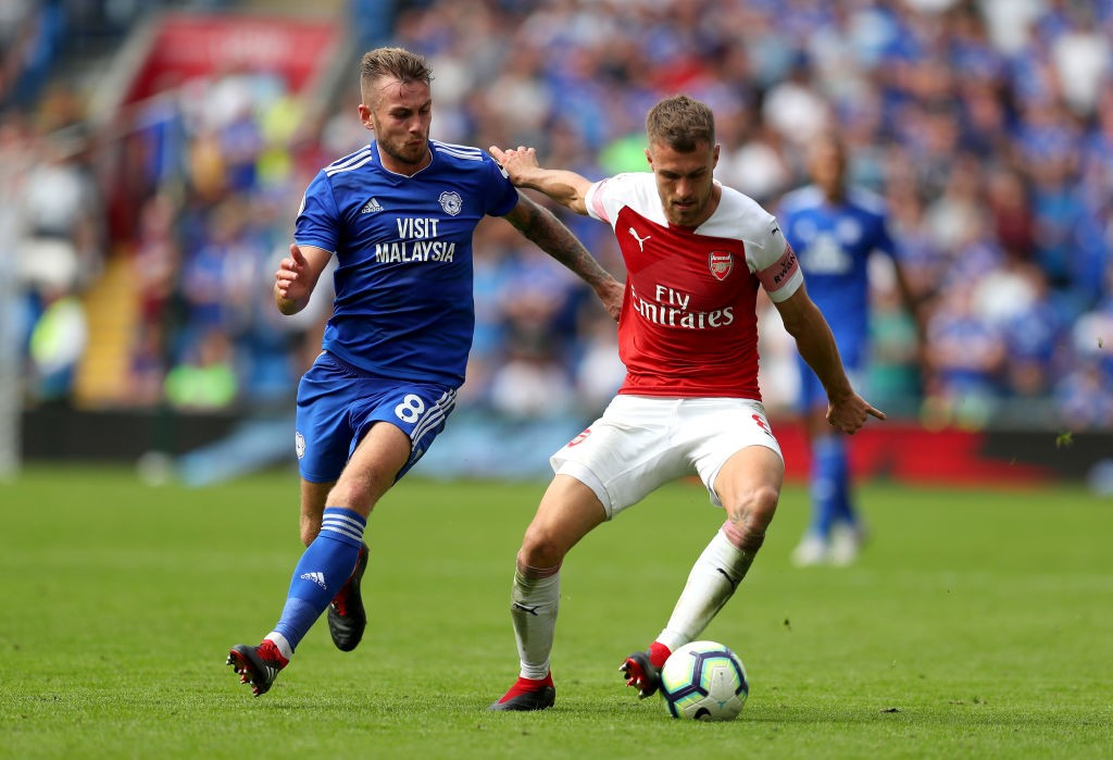 Aaron Ramsey produced yet another top-class performance from the No.10 role. (Photo courtesy:AFP/Getty)