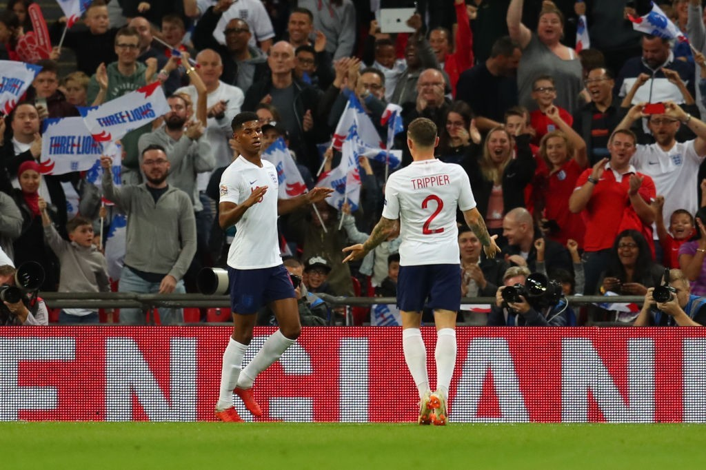 Will Trippier reunite with Marcus Rashford at Manchester United? (Photo by Catherine Ivill/Getty Images)