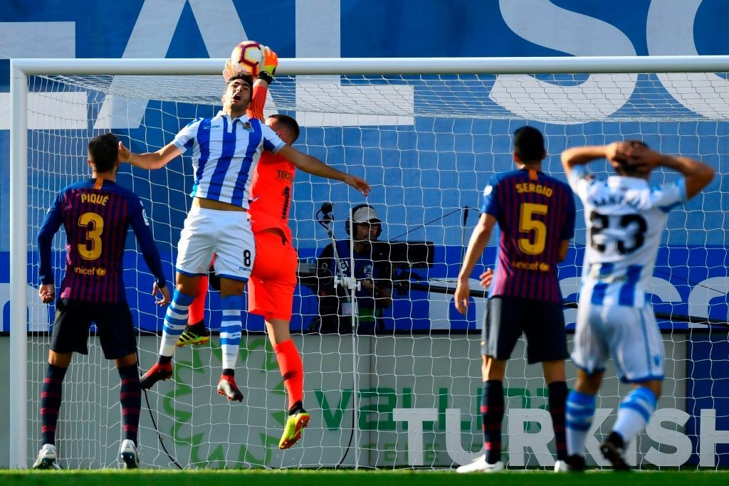 Ter Stegen made a number of key stops for Barca (Photo by GABRIEL BOUYS/AFP/Getty Images)