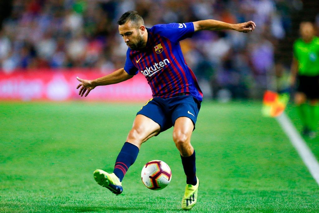 Jordi Alba has been one of Barcelona's most important players making 250 appearances for the club so far. (Photo courtesy: AFP/Getty)