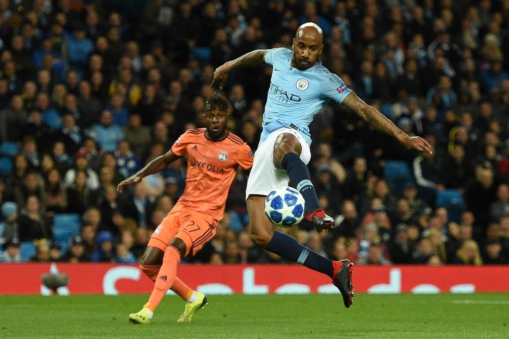 Fabian Delph's error gifted Lyon their opening goal. (Photo courtesy: AFP/Getty)