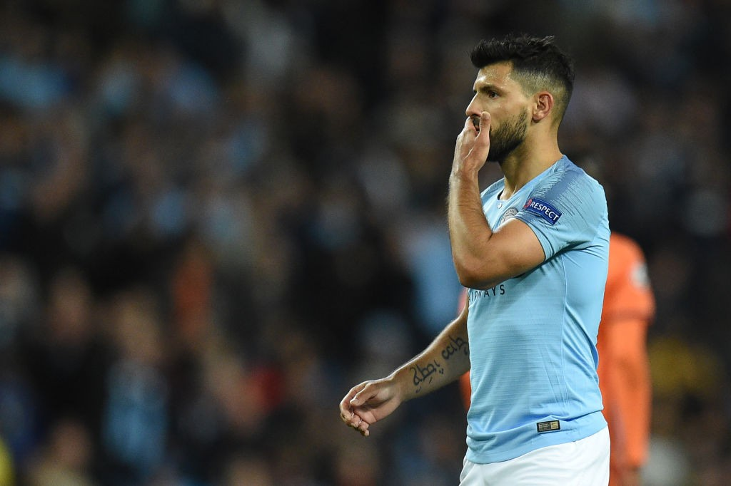 Sergio Aguero is hoping to win all three points for Manchester City against Cardiff