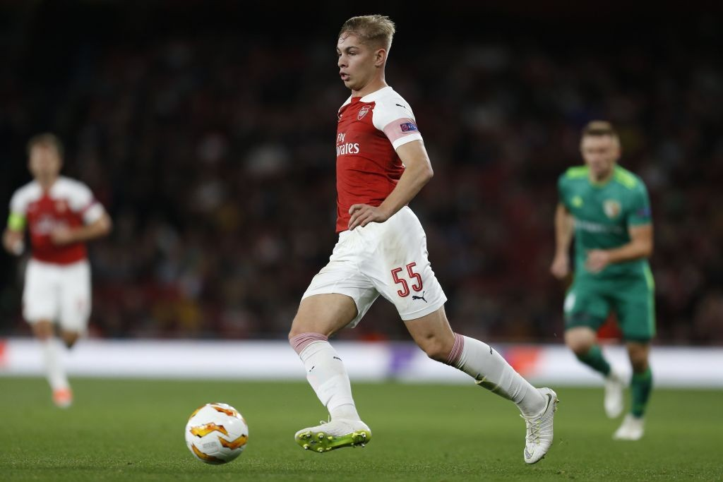 The future of Arsenal? Emile Smith Rowe is set to make his first start for the senior side against Brentford. (Photo courtesy: AFP/Getty)