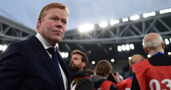 Dutch trainer Ronald Koeman looks on prior to the international friendly football match between Italy and the Netherlands at the Allianz Stadium in Turin on June 4, 2018. (Photo by MIGUEL MEDINA / AFP) (Photo credit should read MIGUEL MEDINA/AFP/Getty Images)