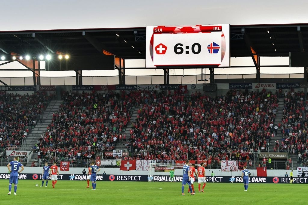 The Erik Hamren era started in disastrous fashion for Iceland. (Photo courtesy - Fabrice Coffrini/AFP/Getty Images)