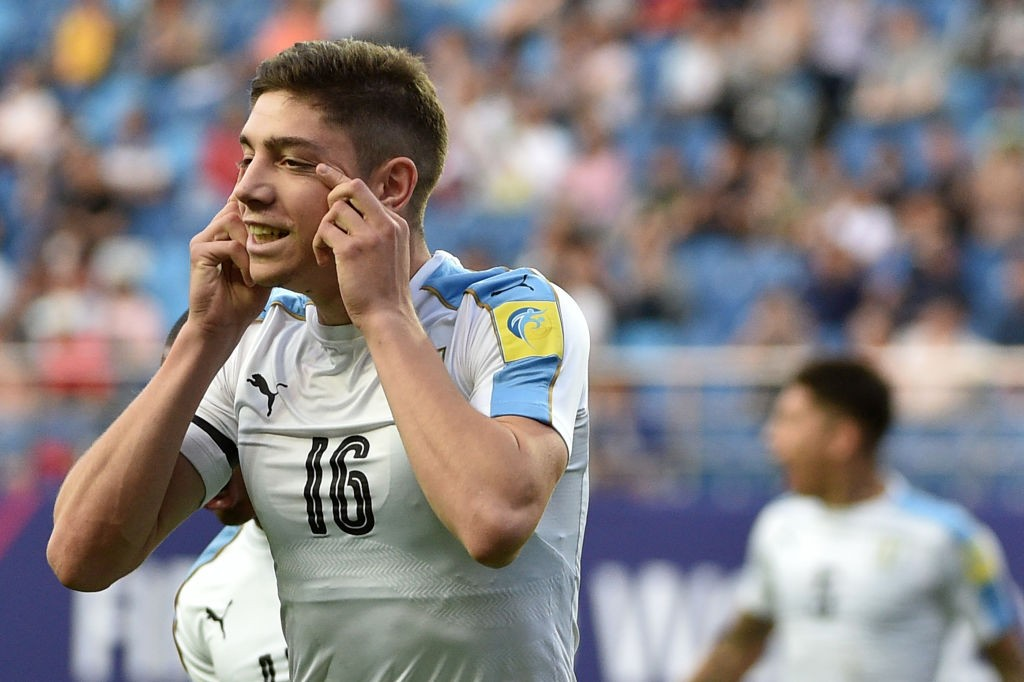 Federico Valverde is out with an injury for Uruguay (Photo by KIM DOO-HO/AFP/Getty Images)
