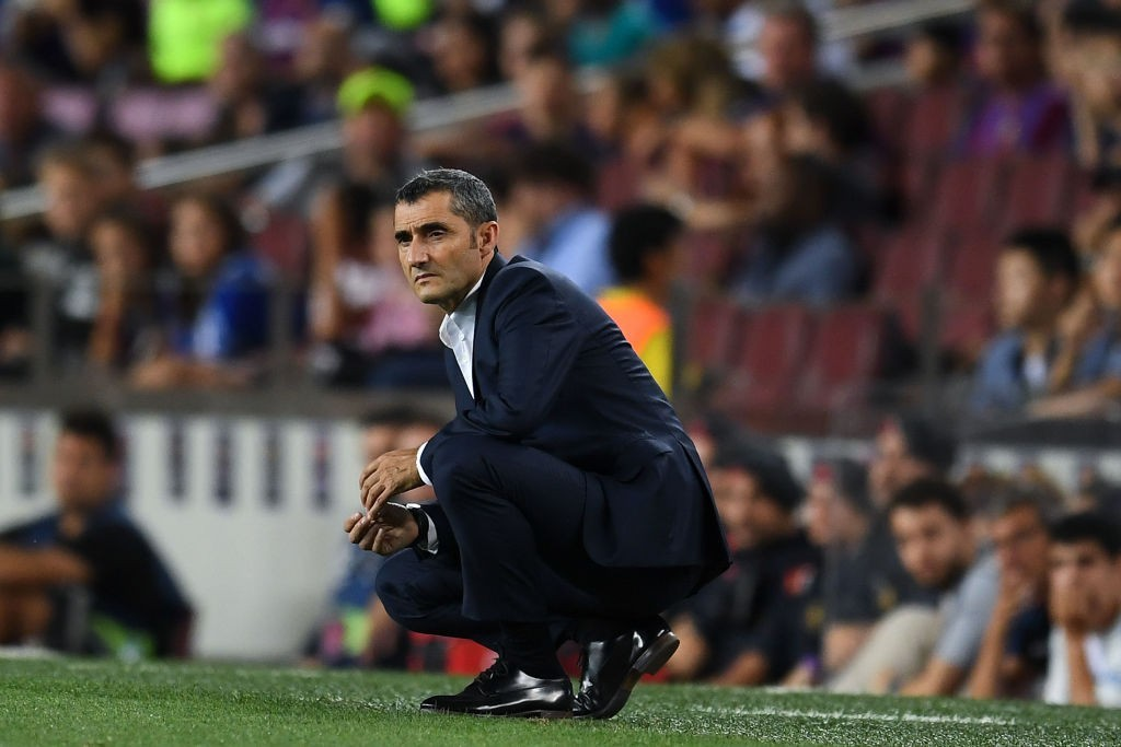 Ernesto Valverde has not committed to a new Barcelona deal yet. (Photo courtesy - David Ramos/Getty Images)