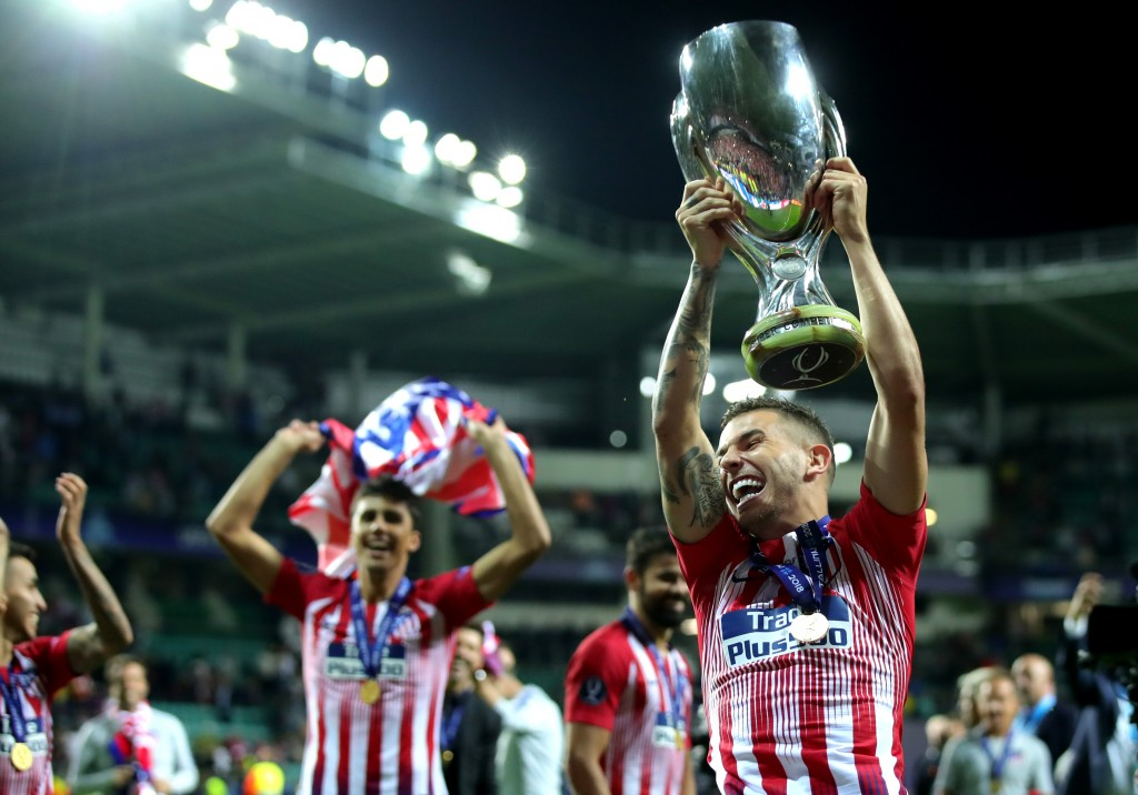 Happy and winning - the perfect combination that Lucas Hernandez has achieved at Atletico Madrid. (Picture Courtesy - AFP/Getty Images)