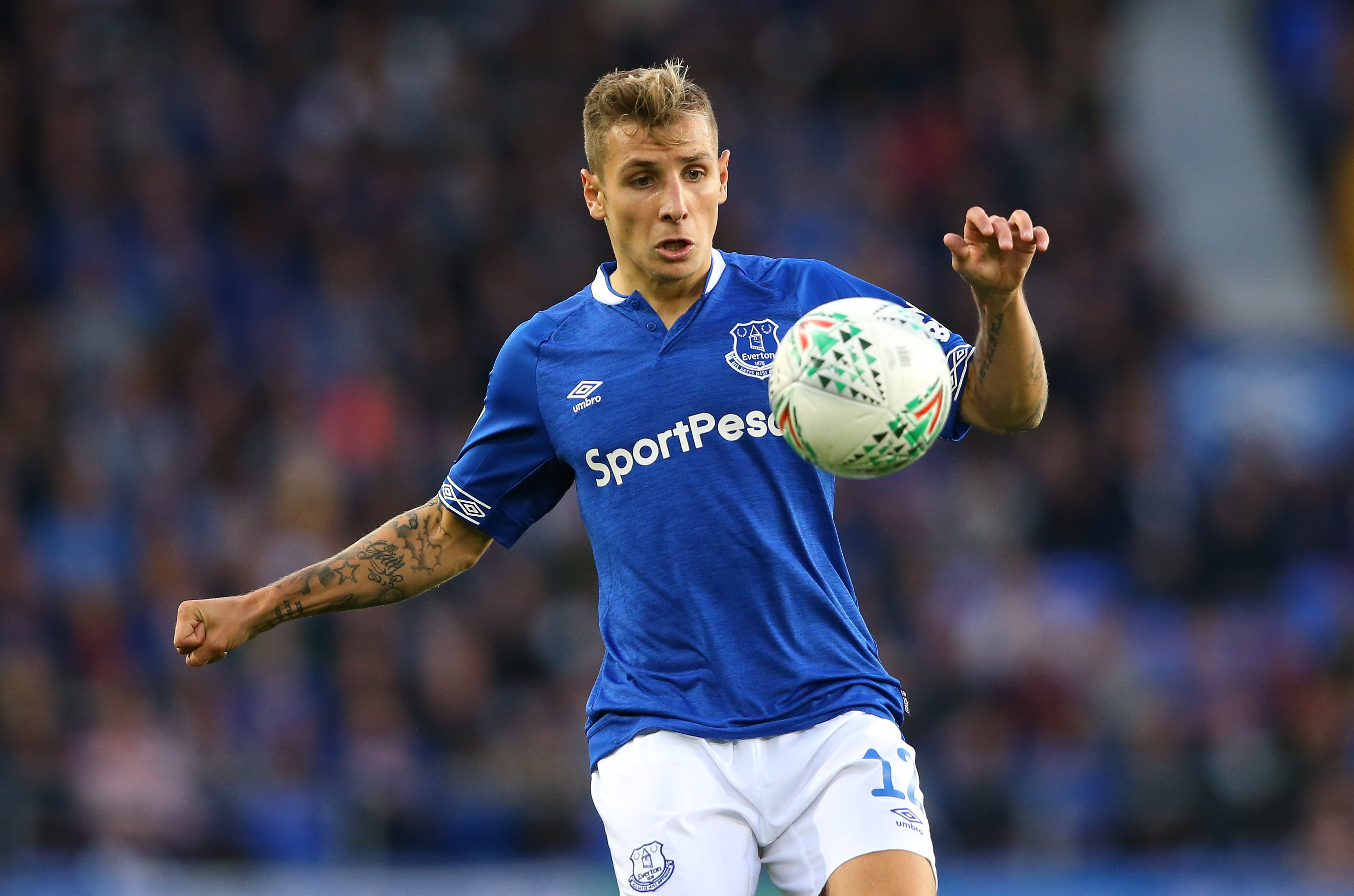 Lucas Digne unavailable for Everton (Photo by Alex Livesey/Getty Images)