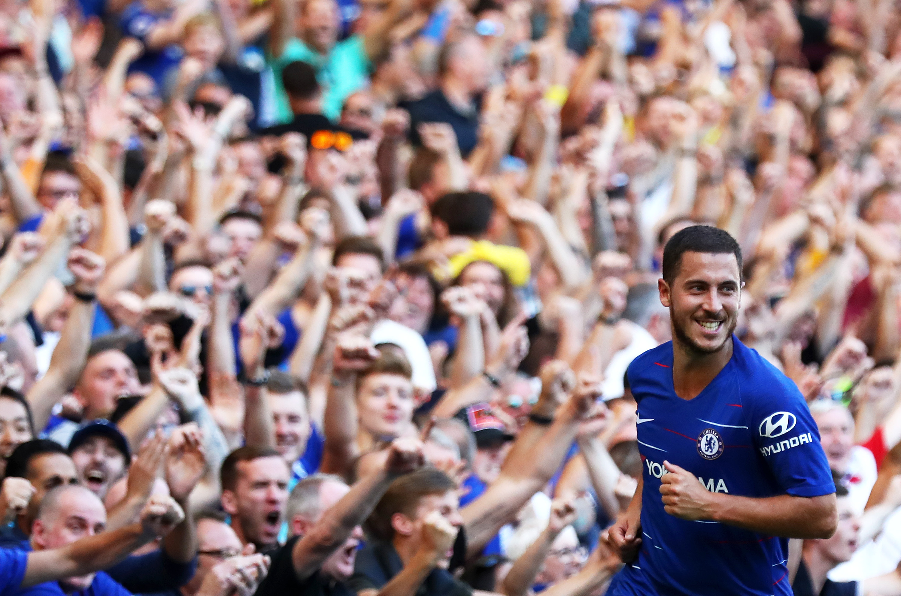 Chelsea's Eden Hazard adds fuel to Real Madrid rumours again