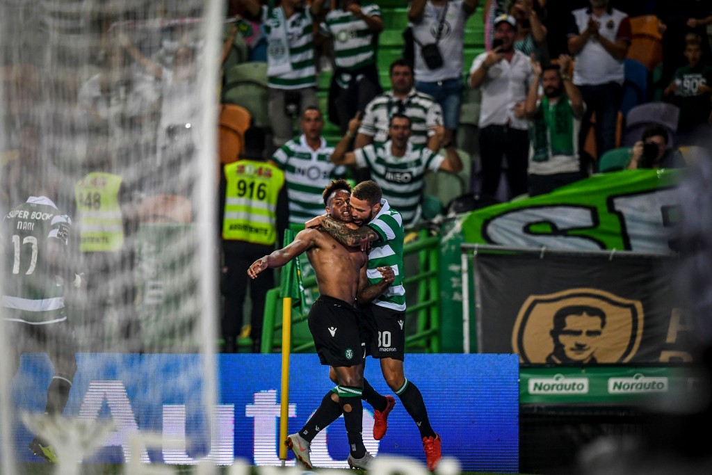 A brilliant start to his senior Sporting CP career. (Picture Courtesy - AFP/Getty Images)