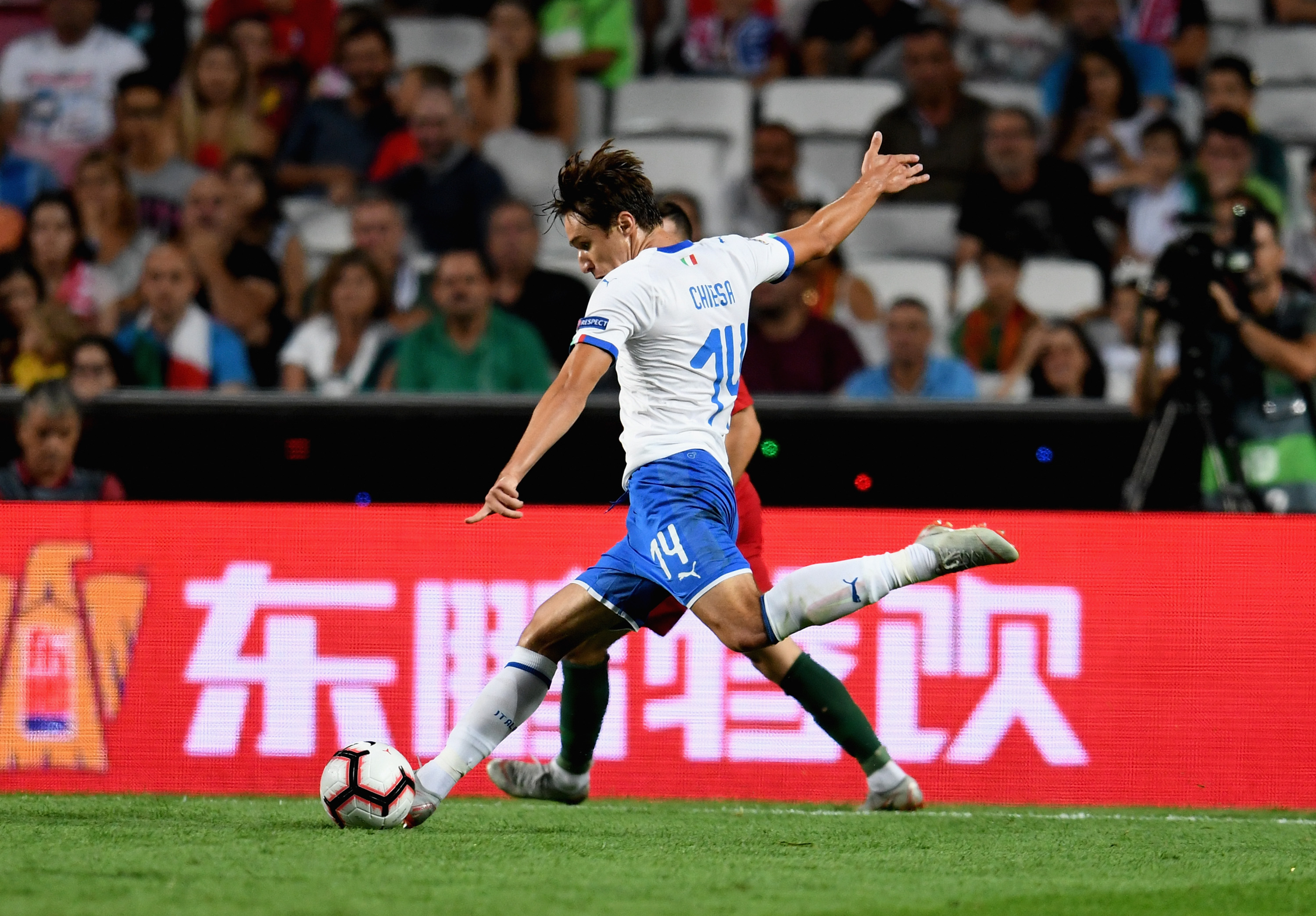 Federico Chiesa will be aiming to make the most of his chance (Photo by Claudio Villa/Getty Images)