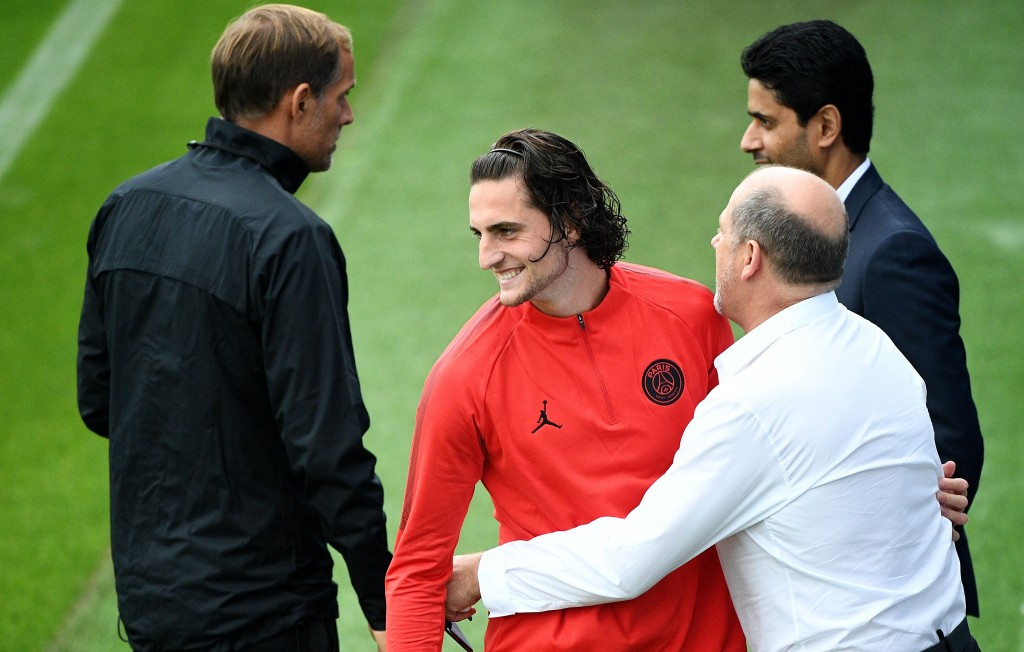 Rabiot is eager to leave the clutches of PSG. (Photo courtesy - Franck Fife/AFP/Getty Images)