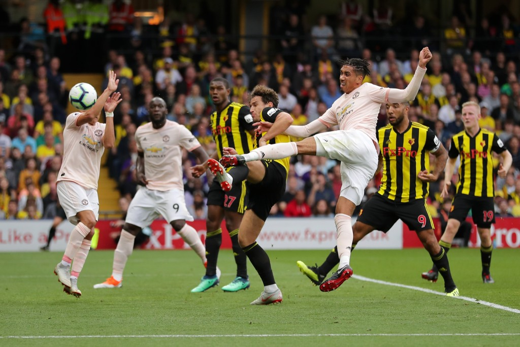 Smalling scored a sensational goal for United (Photo by Richard Heathcote/Getty Images)
