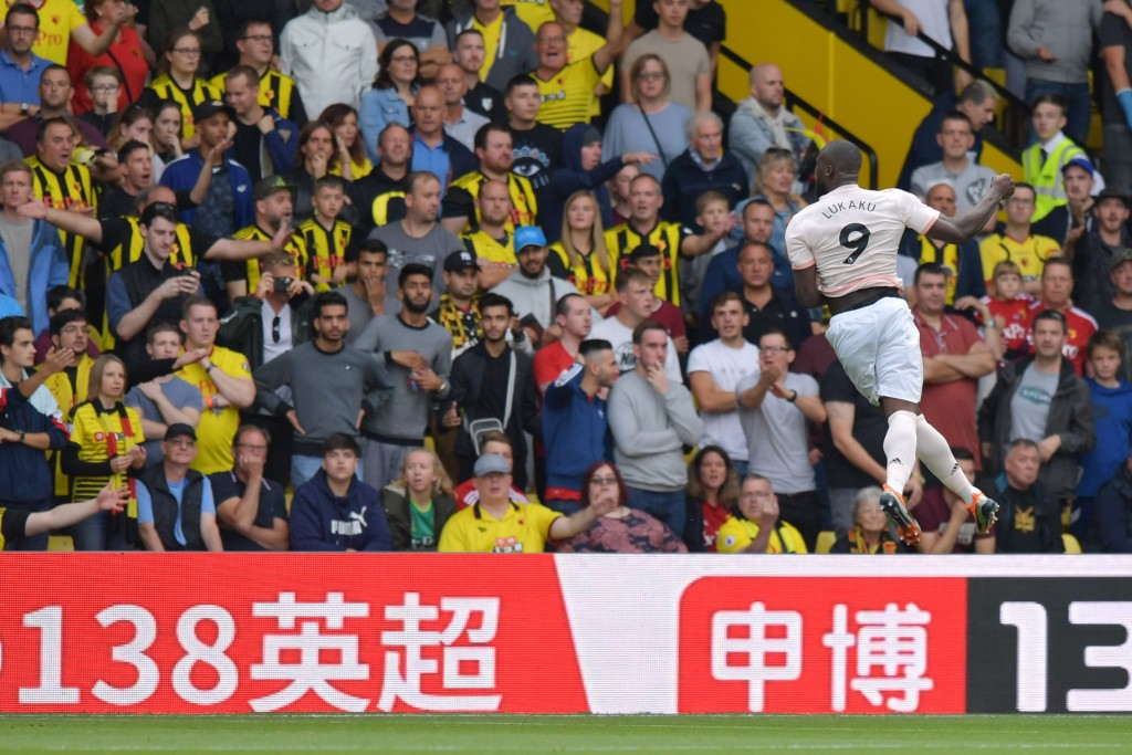 Lukaku scored his fourth of the season (Photo by OLLY GREENWOOD/AFP/Getty Images)