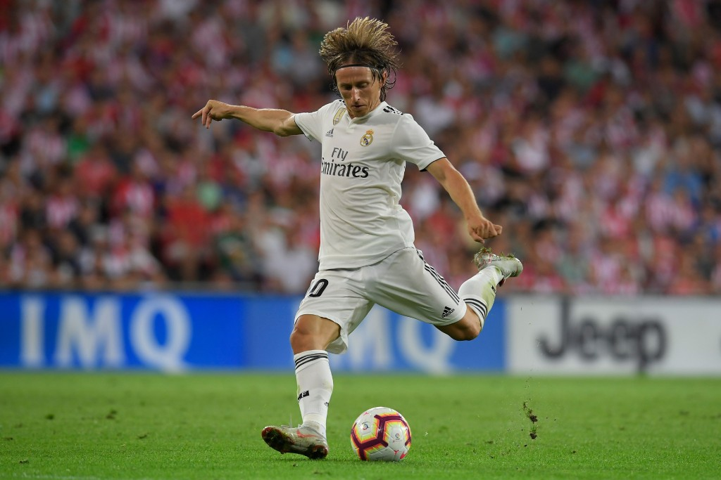 Real Madrid are ready to let Luka Modric leave the club after some underwhelming performances this season. (Photo by Lluis Gene/AFP/Getty Images)