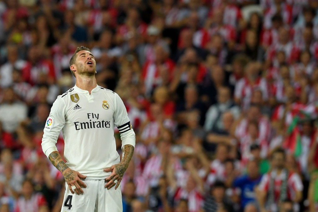 A night to forget for the Real Madrid captain. (Photo courtesy - Lluis Gene/AFP/Getty Images)