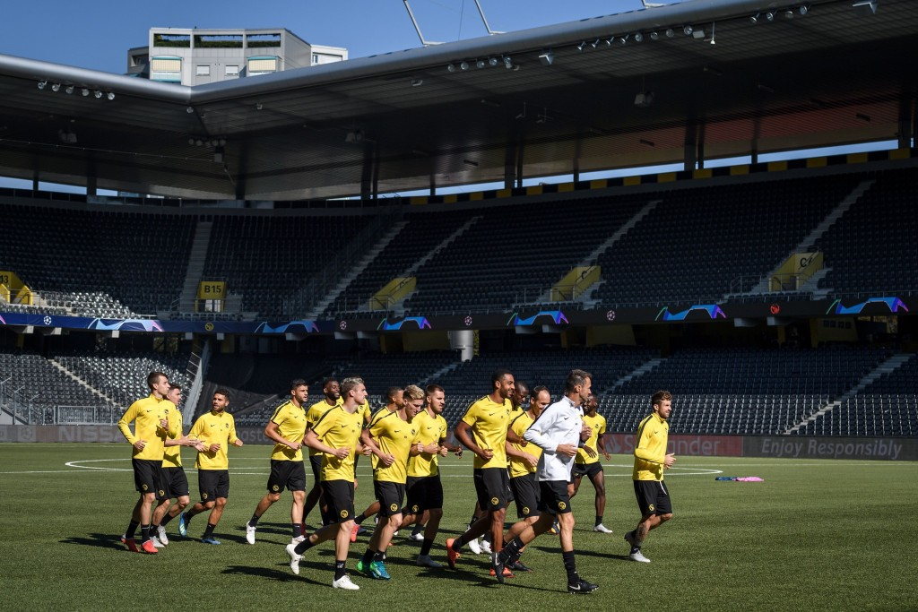 BSC Young Boys gearing up for UCL debut (Photo by FABRICE COFFRINI/AFP/Getty Images)