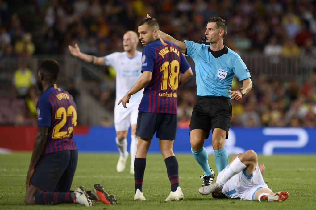 Umtiti suspended for Barcelona (Photo courtesy - Josep Lago/AFP/Getty Images)