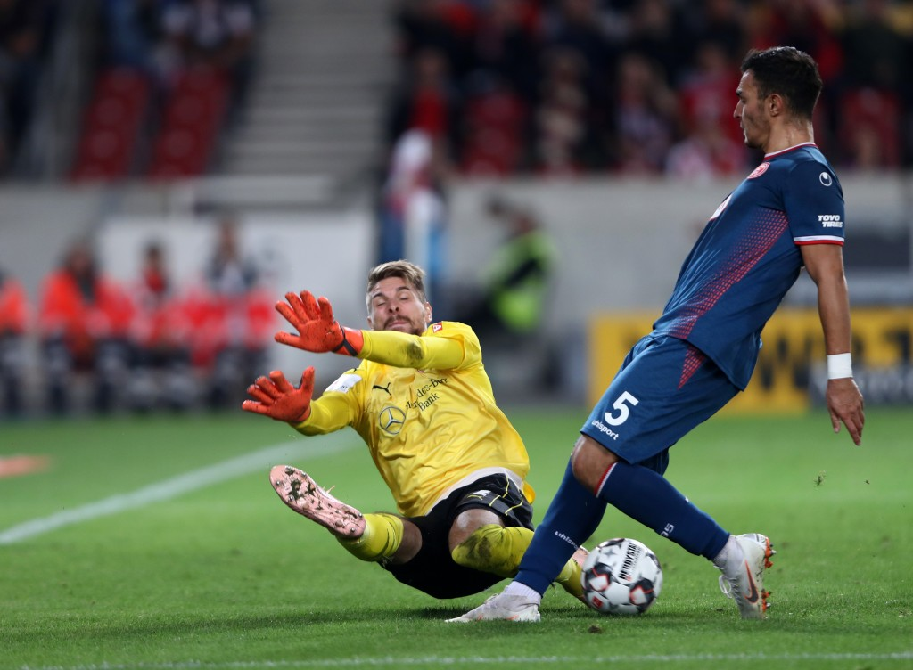 There was no way past Zieler on Friday night. (Photo courtesy - Alex Grimm/Bongarts/Getty Images)