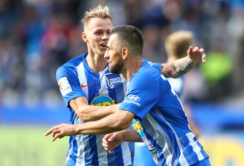 The stars of the show for a rampaging Hertha Berlin. (Photo courtesy - Martin Rose/Bongarts/Getty Images)