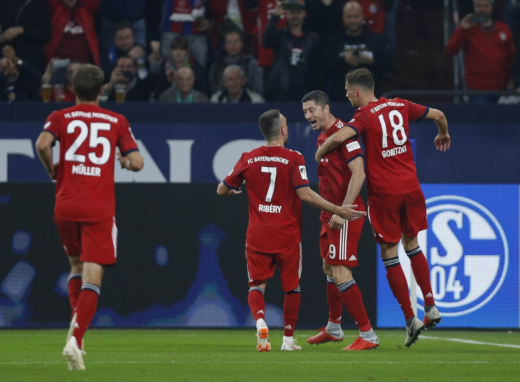Bayern Munich have looked invincible this season. (Photo by NORBERT SCHMIDT/AFP/Getty Images)