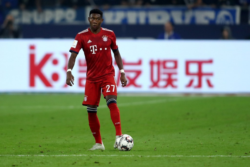 An average display by David Alaba. (Photo by Christof Koepsel/Bongarts/Getty Images)