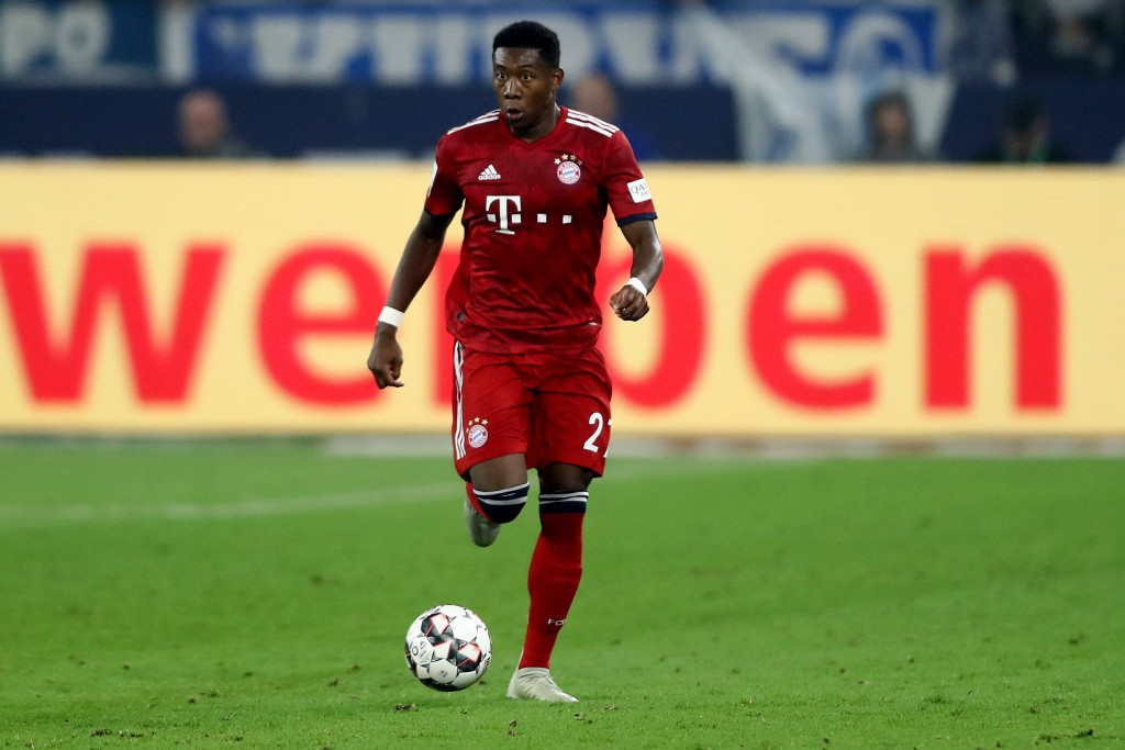 A dominant display by David Alaba. (Photo courtesy - Christof Koepsel/Bongarts/Getty Images)