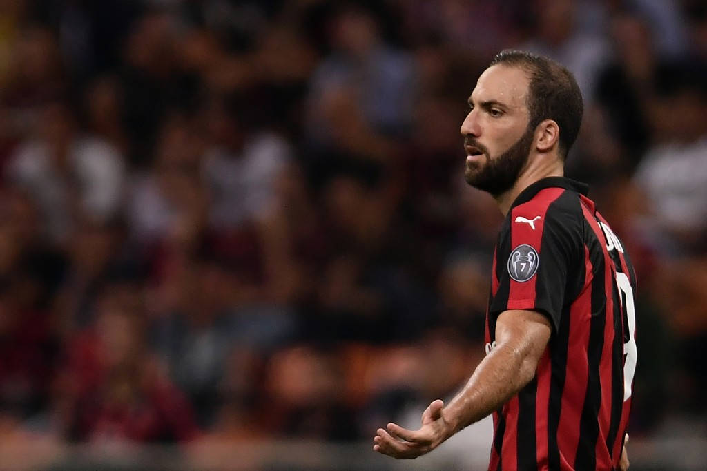 Higuain has now scored in three games in a row (Photo by MARCO BERTORELLO/AFP/Getty Images)