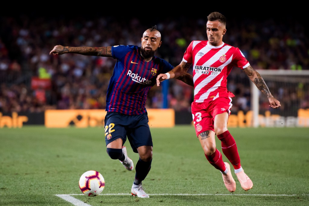 Vidal set Messi up for the opener (Photo by Alex Caparros/Getty Images)
