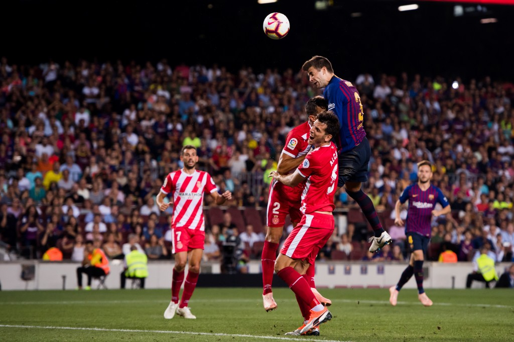 A night of highs and lows for Pique (Photo by Alex Caparros/Getty Images)