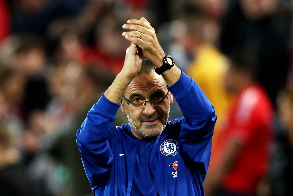 Can Sarri make it 2 out of 2? (Picture Courtesy - AFP/Getty Images)