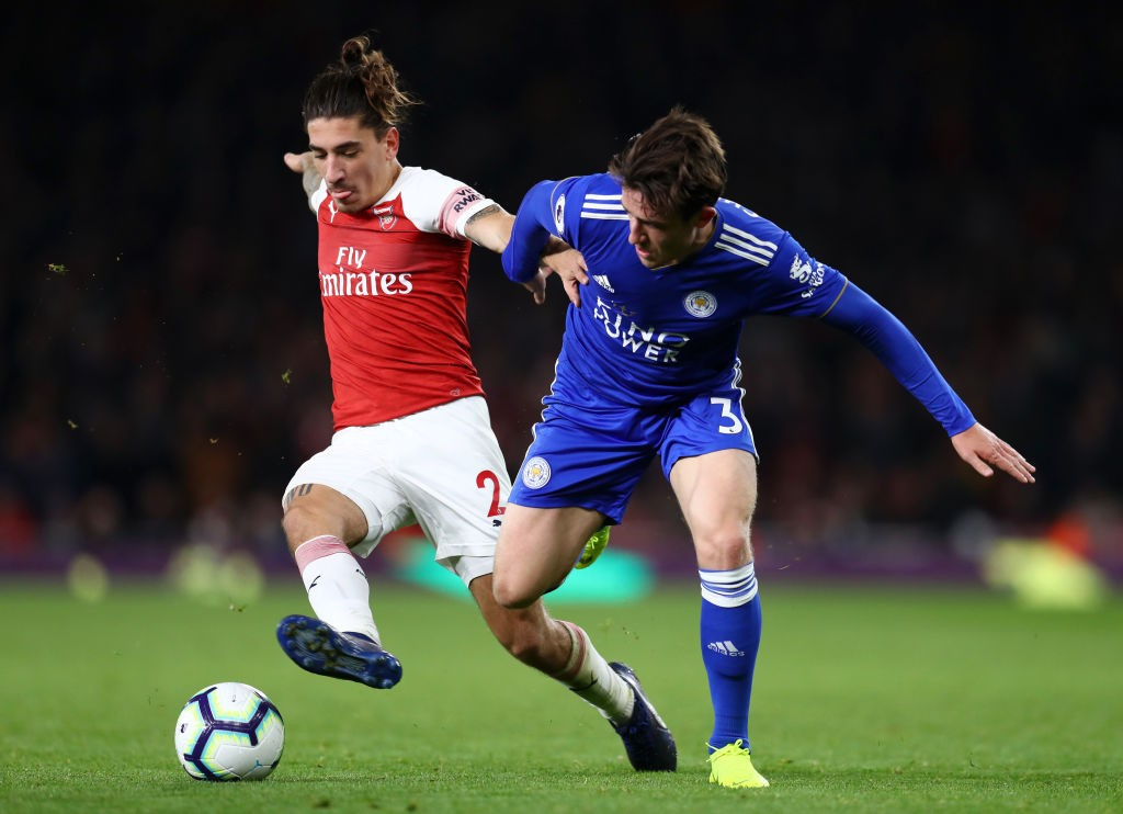 BEllerin helped Arsenal to a victory over Leicester providing two assists during the game. (Photo courtesy: AFP/Getty)