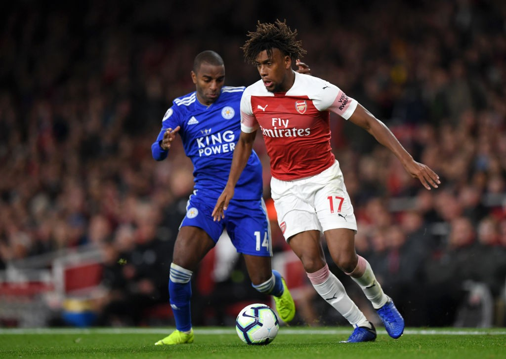 Alex Iwobi is in a rich vein of form after a man of the match performance against Leicester. (Photo courtesy: AFP/Getty)