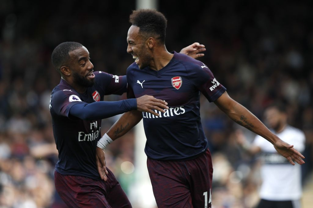 Lacazette and Aubameyang scored braces against Fulham. (Photo courtesy: AFP/Getty)