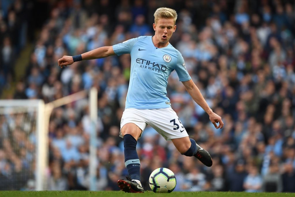 Oleksandr Zinchenko is likely to start for City at left-back