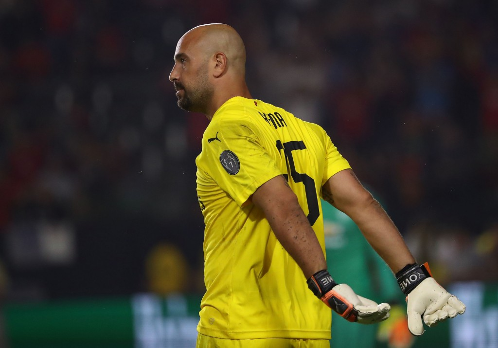 Pepe Reina struggled in midweek and will be replaced by Donnarumma this weekend. (Photo by Victor Decolongon/Getty Images)