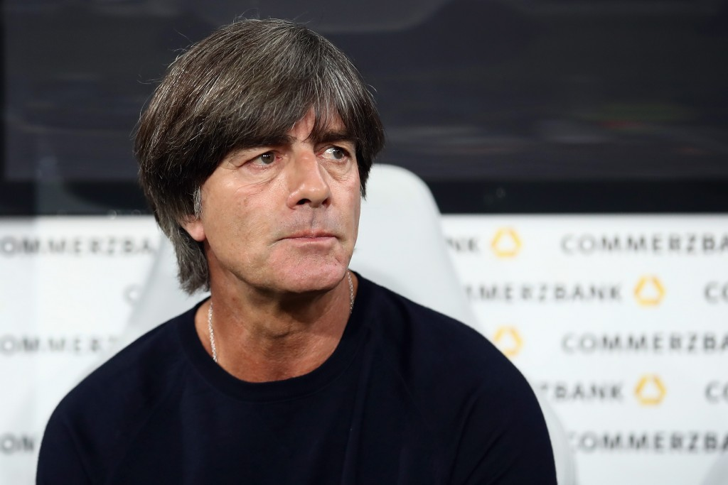 SINSHEIM, GERMANY - SEPTEMBER 09: Head coach Joachim Loew of Germany looks on prior to the International Friendly match between Germany and Peru at Wirsol Rhein-Neckar-Arena on September 9, 2018 in Sinsheim, Germany. (Photo by Alex Grimm/Bongarts/Getty Images)