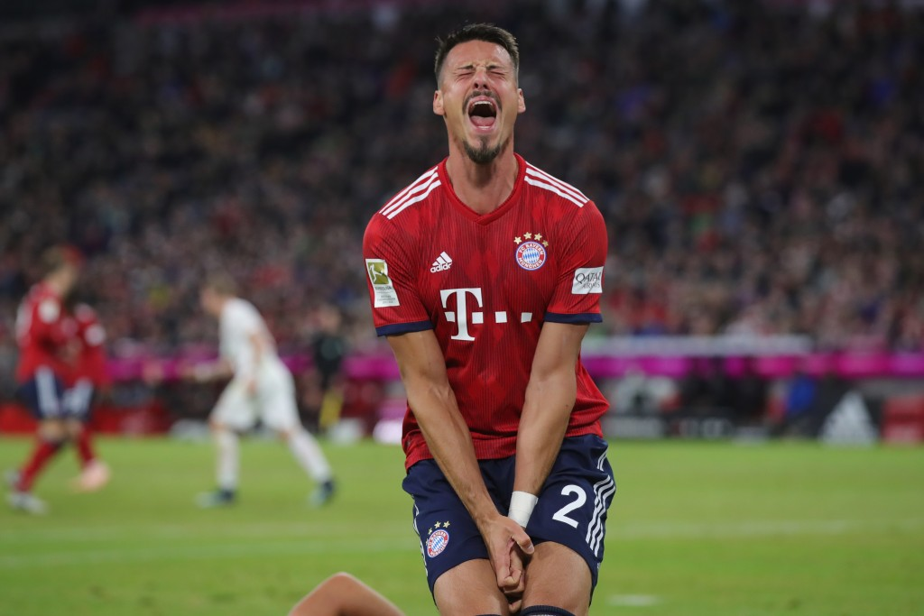 It has been a frustrating season for Sandro Wagner. (Photo by Alexander Hassenstein/Bongarts/Getty Images)