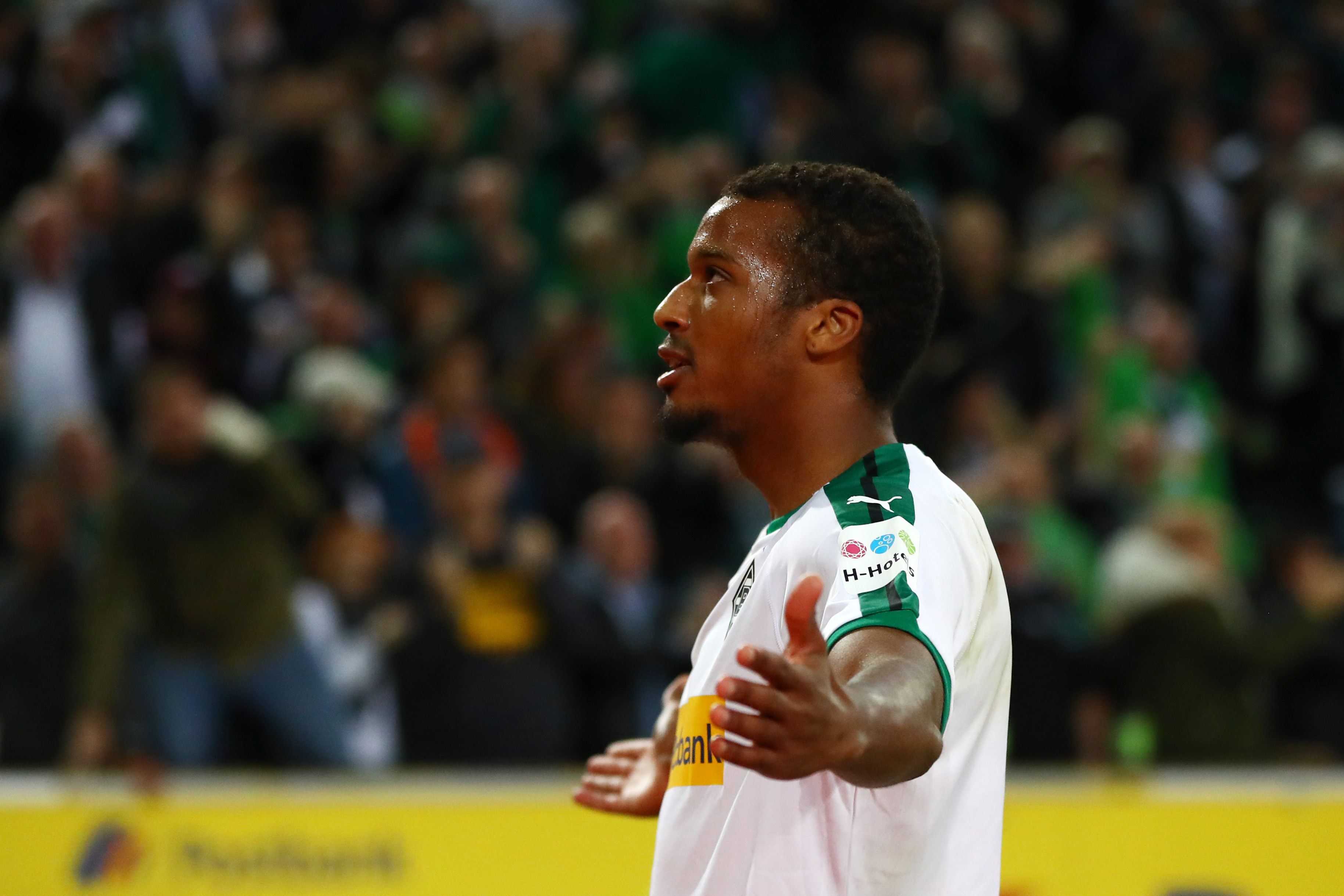 Alassane Plea continue his excellent start to the season. (Photo by Dean Mouhtaropoulos/Bongarts/Getty Images)